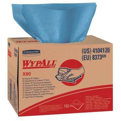 X80 Blue Wipers Brag Box (160-Count)
