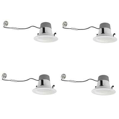 50W Equivalent Soft White 4 in. Dimmable LED Downlight (4-Pack)