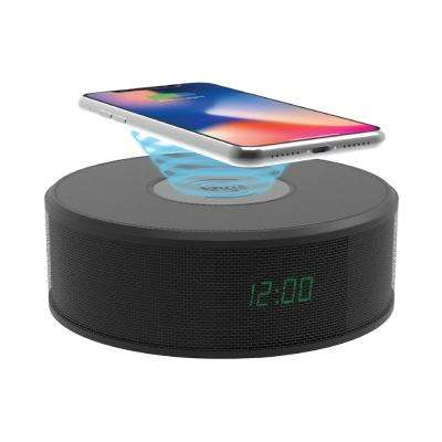 LED Speaker Clock with Wireless Charging
