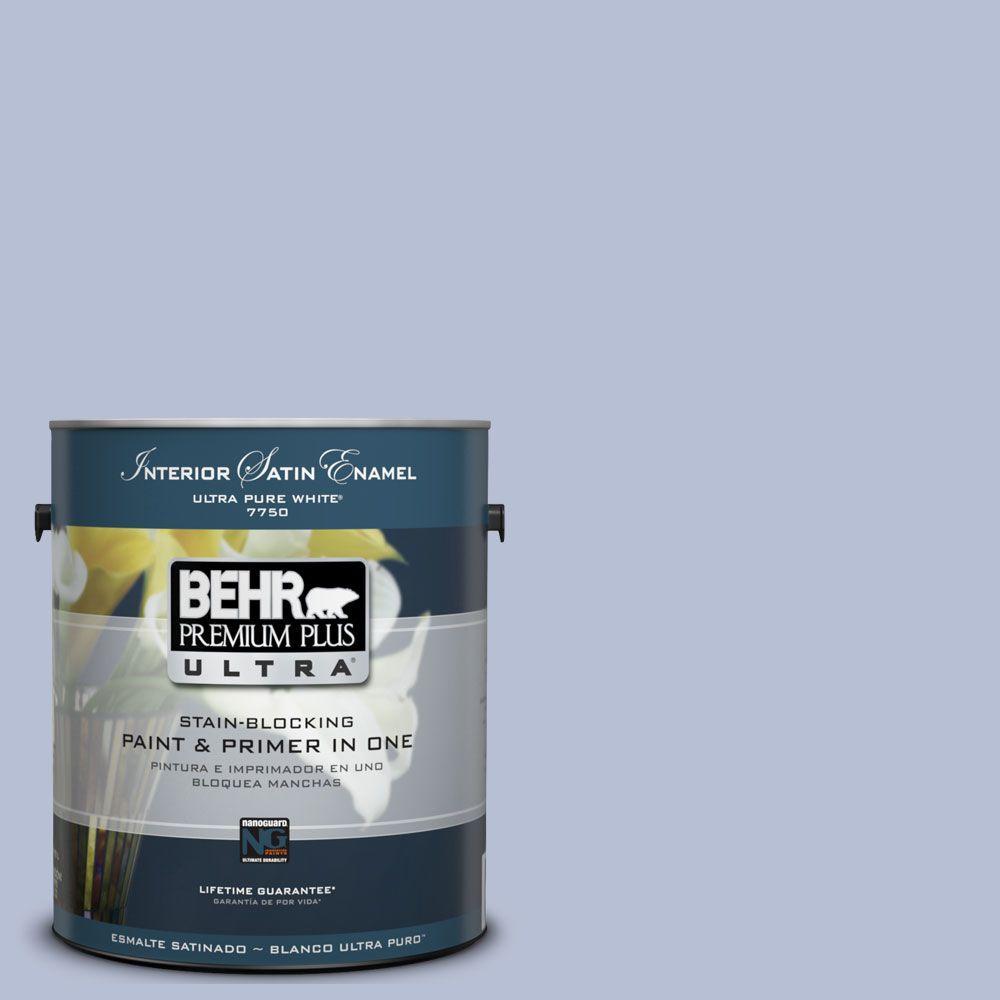 BEHR Premium Plus Ultra 1-Gal. #UL240-10 Sweet Juliet Interior Satin Enamel Paint