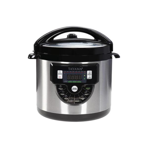Tayama Electric Pressure Cooker with Stainless Steel Pot 6 Qt. TMC-60SS