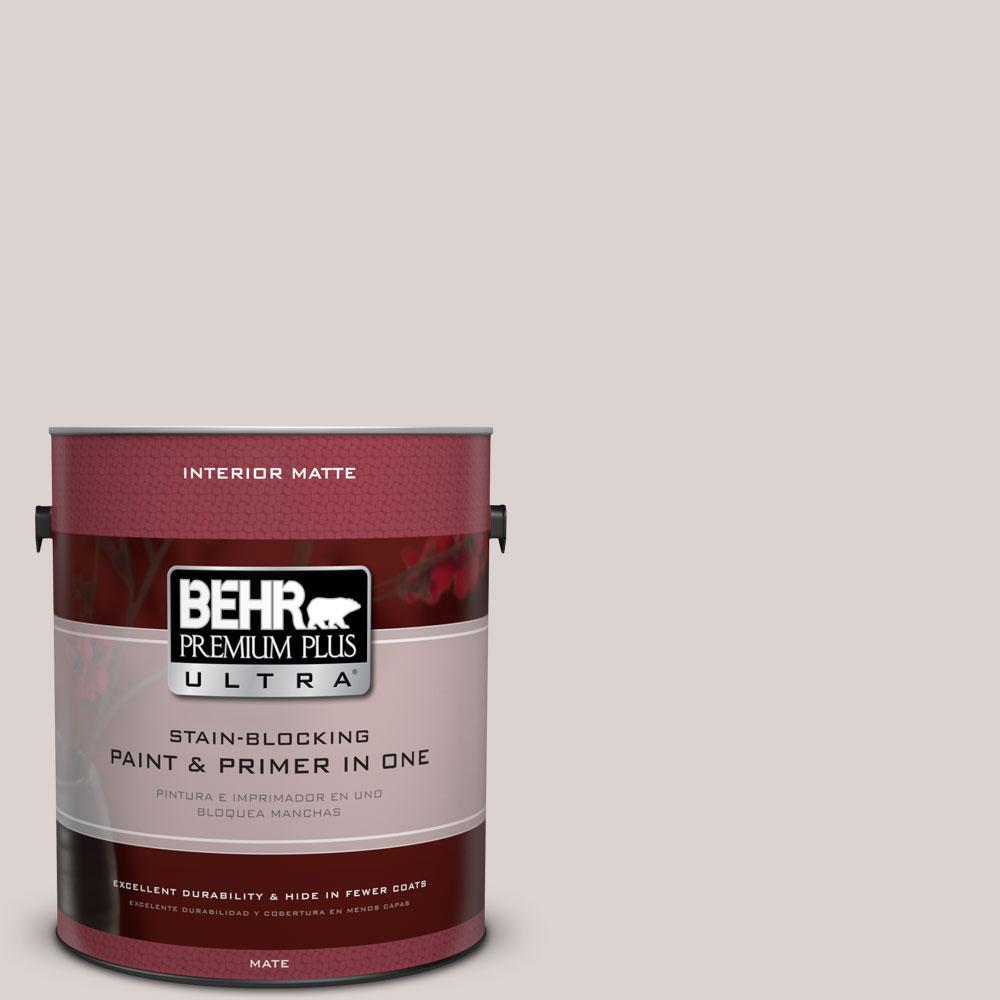 BEHR Premium Plus Ultra 1 gal. #750A-2 Feather Gray Flat/Matte Interior Paint