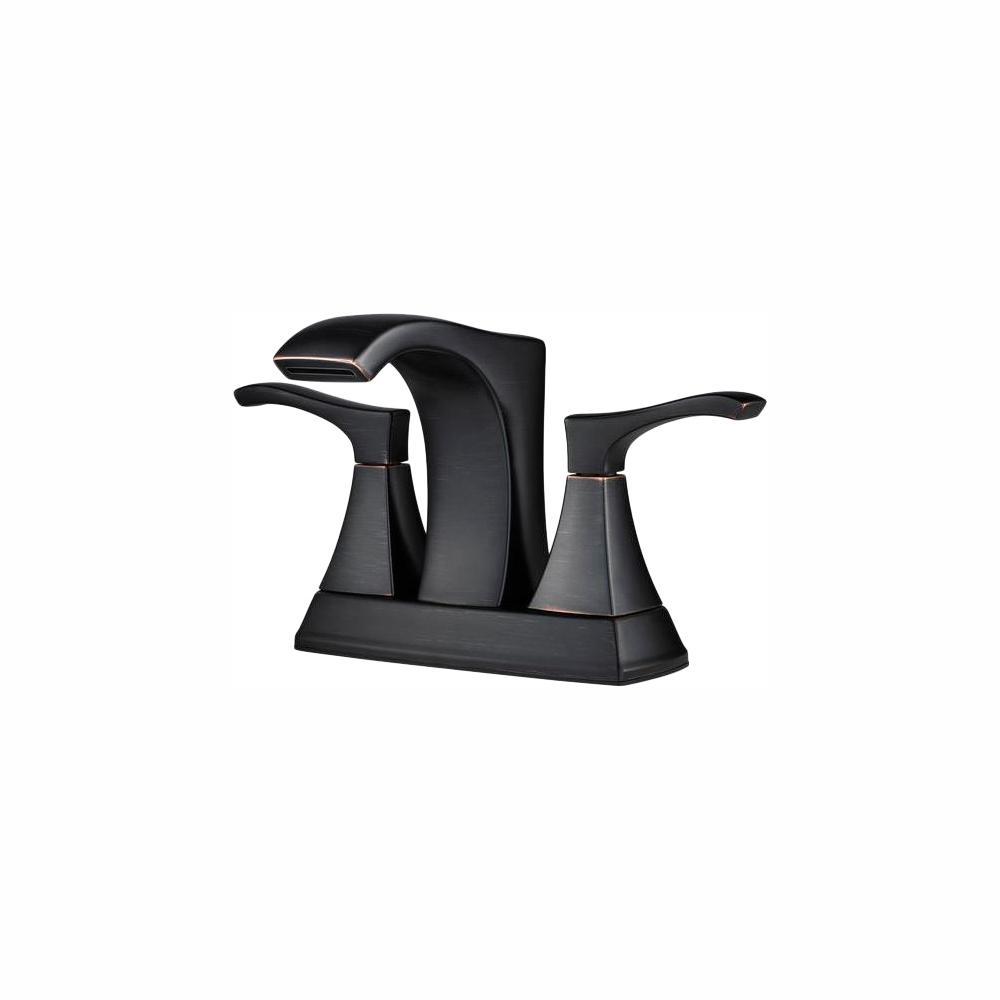 Venturi 4 in. Centerset 2-Handle Bathroom Faucet in Tuscan Bronze