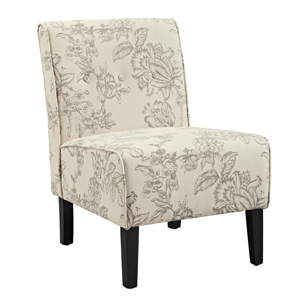 Coco Gray Toile Accent Chair
