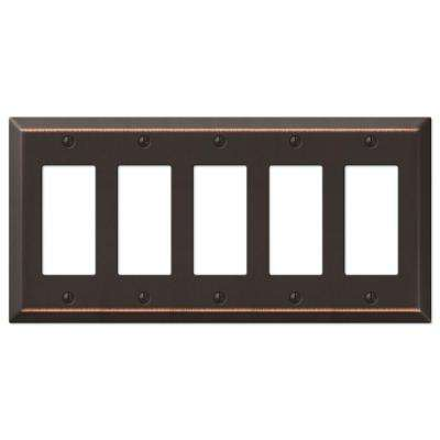 Century 5 Decorator Wall Plate - Aged Bronze