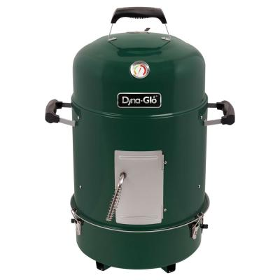 Compact 19 in. Dia Charcoal Smoker in High Gloss Forest Green