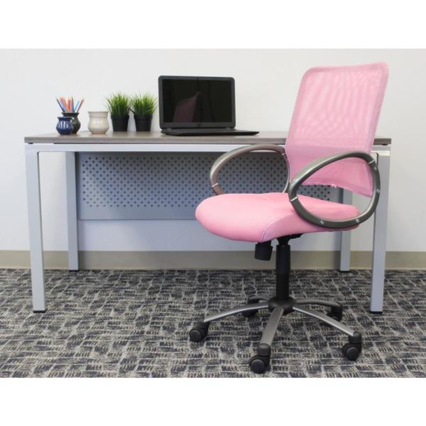 Boss Office Homepro Mesh Arm Chair Pink Mesh Back Pink Mesh Fabric Seat Pewter Finish Arms Base Pneumatic Lift B6416 Pk The Home Depot