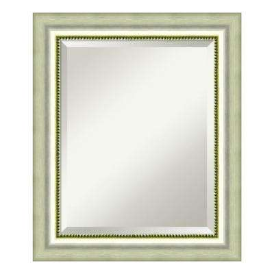 Vegas Burnished Silver Wood 21 in. W x 25 in. H Casual Bathroom Vanity Mirror