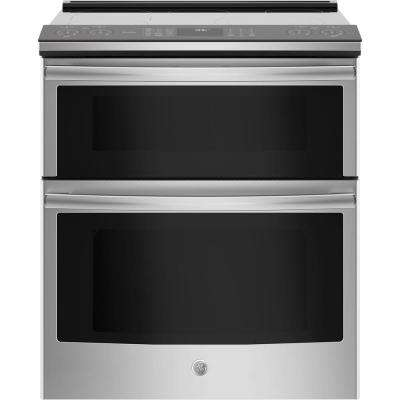 Profile 6.6 cu. ft. Smart Slide-In Double Oven Electric Range with Self-Cleaning Convection in Stainless Steel