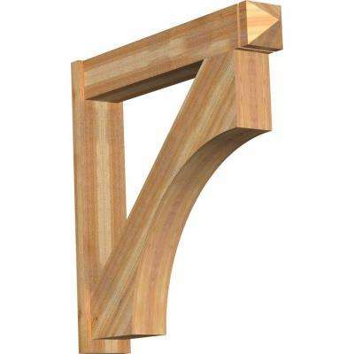 8 in. x 44 in. x 44 in. Western Red Cedar Westlake Arts and Crafts Rough Sawn Outlooker