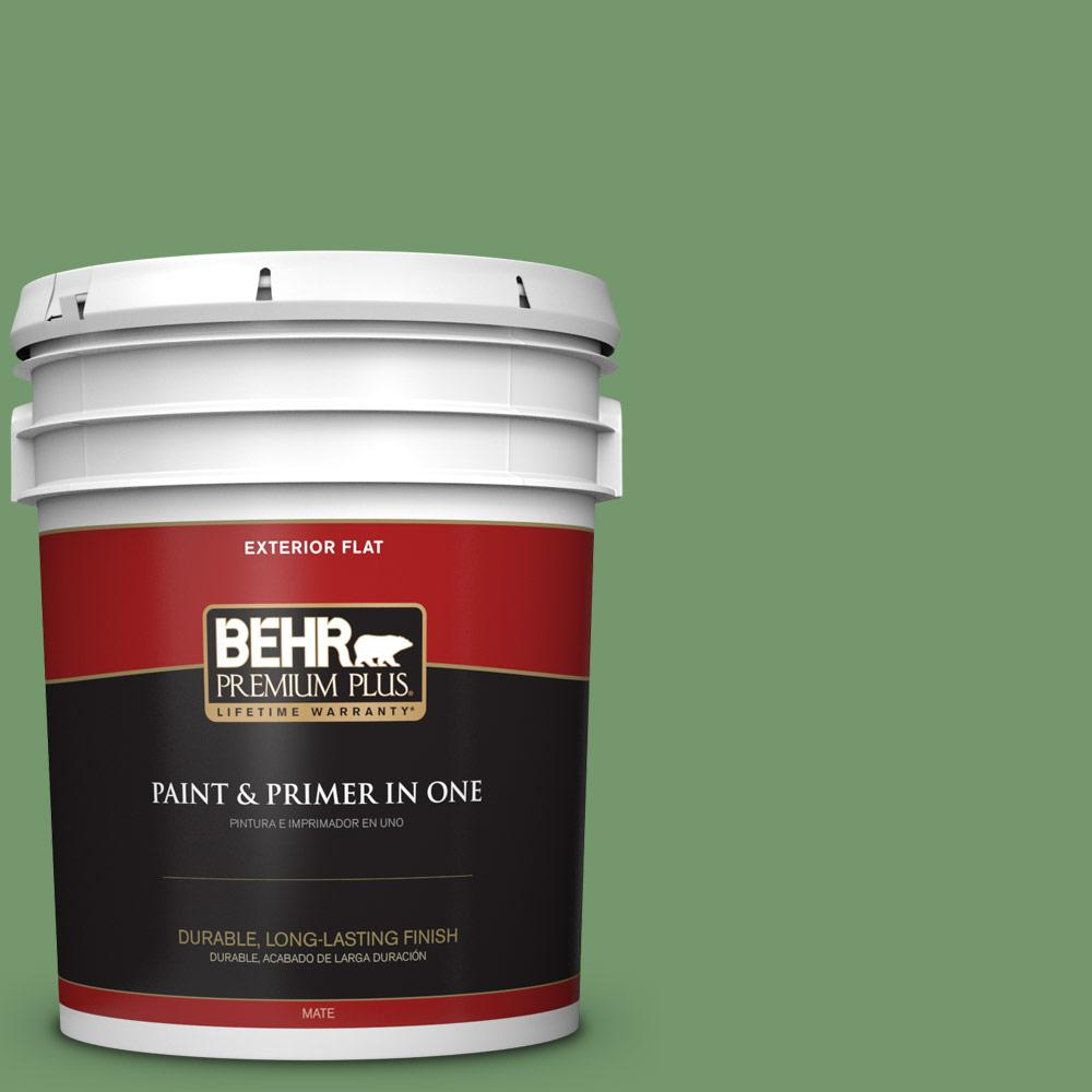 green exterior paint colors mossy ppu1103 botanical green flat exterior paint and primer in greens colors the home depot