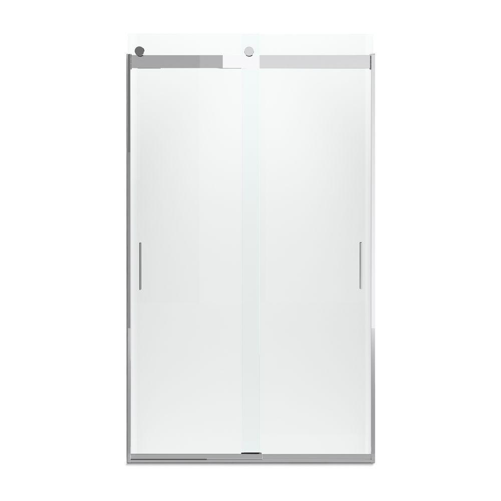 Kohler Levity 48 In X 82 Frameless Sliding Shower Door Bright Polished Silver With Handle