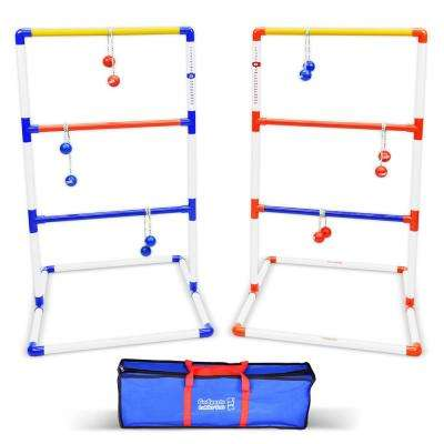 Foldable Premium Ladder Toss Game Set with 6 Bolos and Portable Carrying Case