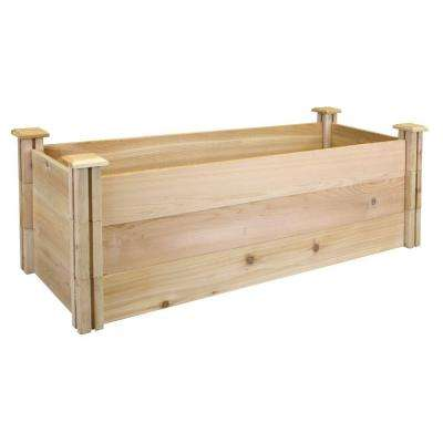 16 in. x 48 in. x 16.5 in. Premium Cedar Raised Garden Bed