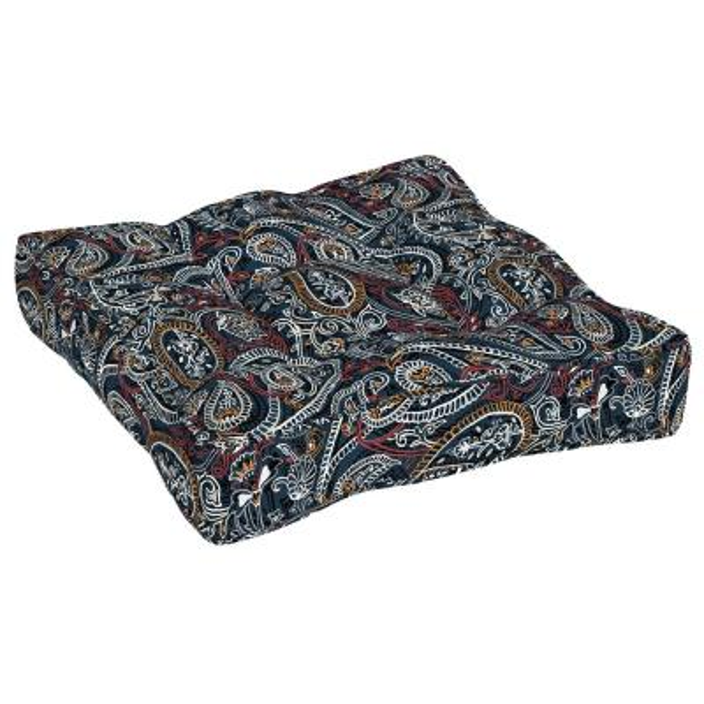25 in. Palmira Paisley Outdoor Floor Cushion