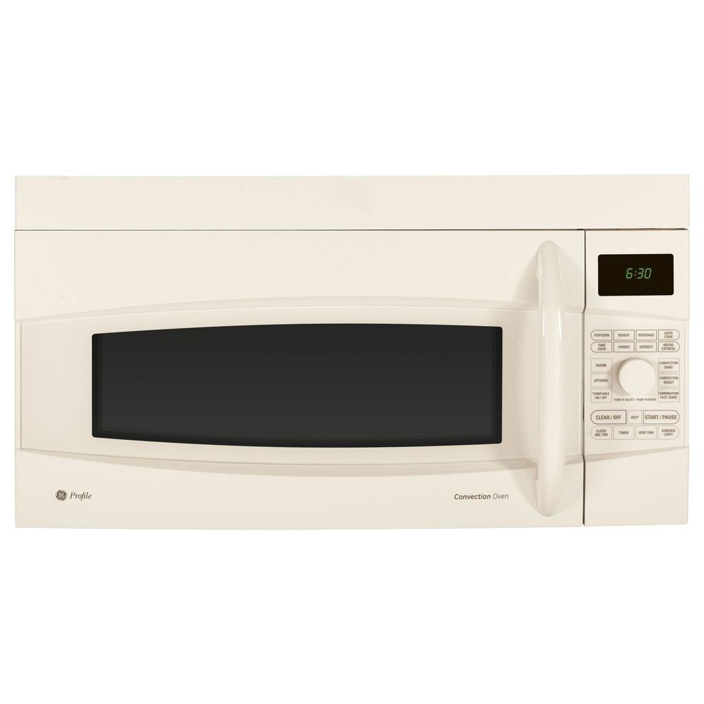 GE Profile 1.7 cu. ft. Over-the-Range Convection Microwave in Bisque-DISCONTINUED