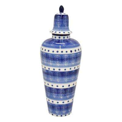 15.5 in. Porcelain Jar - Blue and White