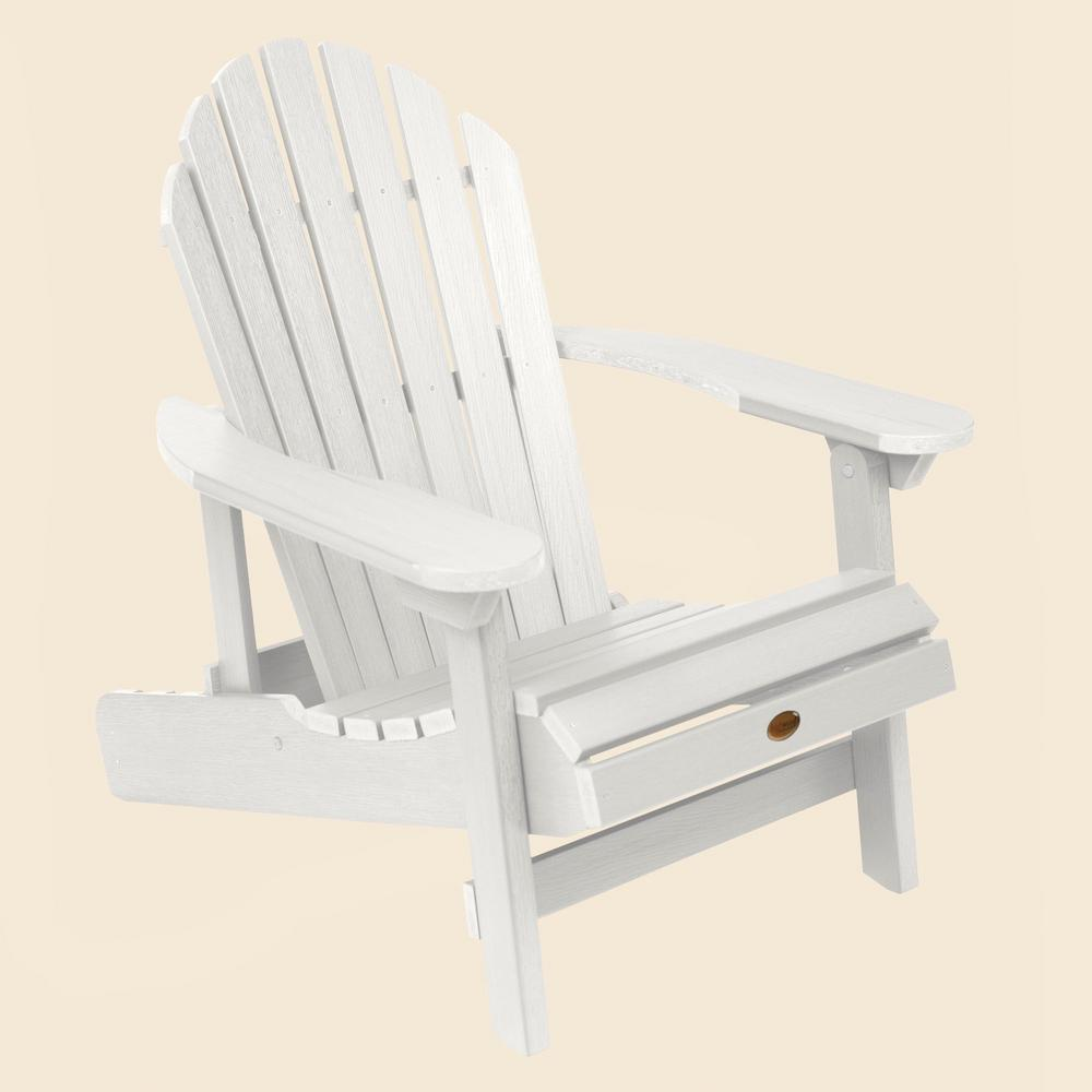 Excellent Highwood Hamilton White Plastic Reclining Adirondack Chair Creativecarmelina Interior Chair Design Creativecarmelinacom