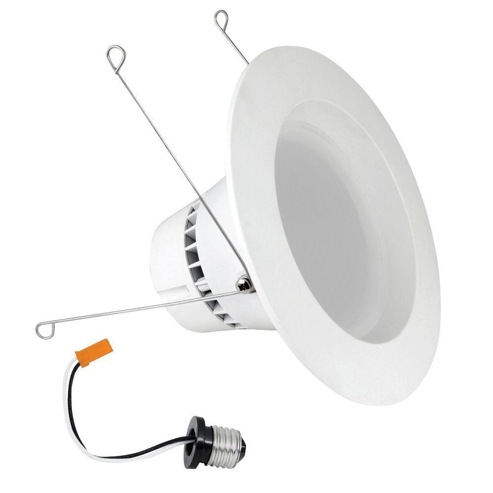 Feit Electric 6 in. White BR30 Trim Recessed Retrofit Downlight LED Module Light Bulb