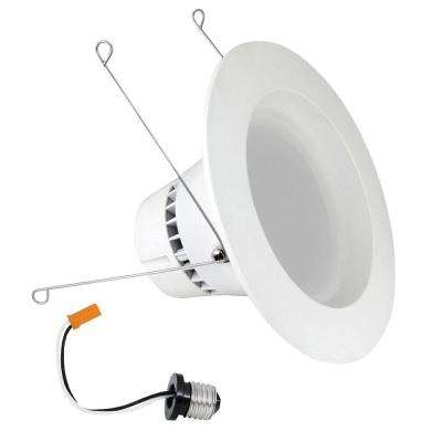 5 in. and 6 in. White BR30 Trim Recessed Retrofit Downlight LED Module Light Bulb