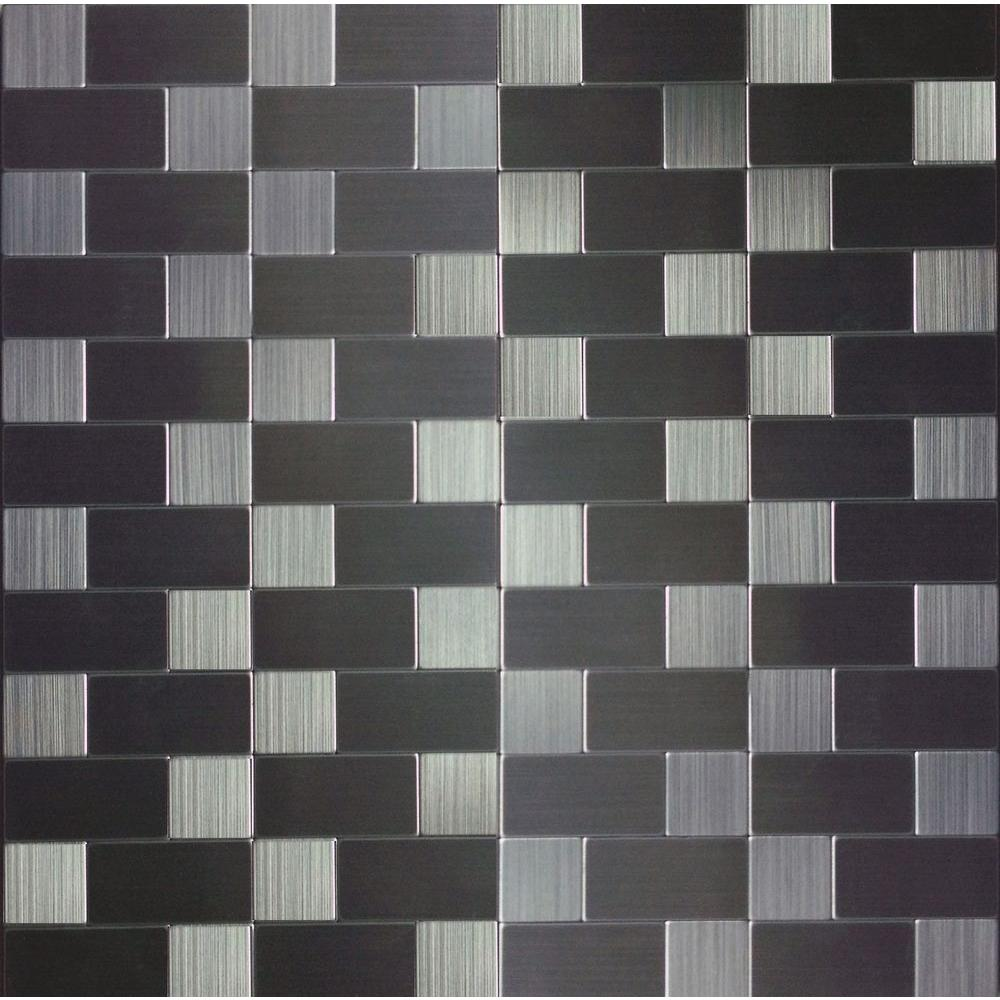 Instant Mosaic 12 in. x 12 in. x 6 mm Peel and Stick Brushed ...
