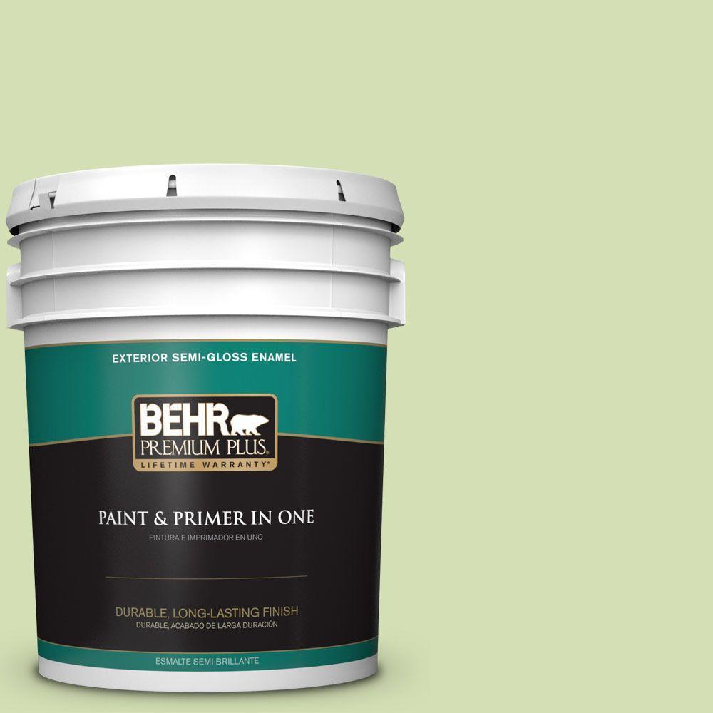 5-gal. #420C-3 Celery Bunch Semi-Gloss Enamel Exterior Paint