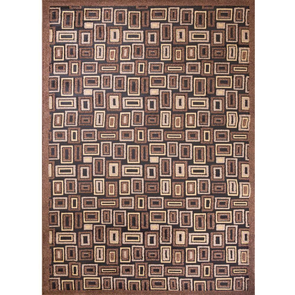 Concord Global Trading Mooresville Rectangles Black 6 ft. 7 in. x 9 ft. 3 in. Area Rug