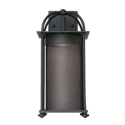 11-Watt Integrated LED Outdoor Black Wall Mount Lantern