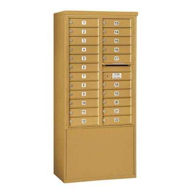3900 Horizontal Series 22-Compartment Free Standing Mailbox