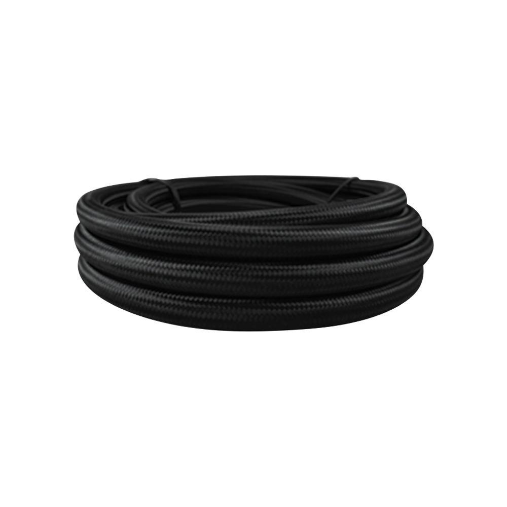 -6 AN Black Nylon Braided Flex Hose (20 foot roll)