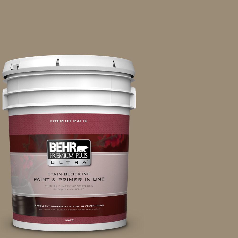 BEHR Premium Plus Ultra 5 gal. #740D-5 Twig Basket Flat/Matte Interior Paint
