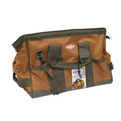 16 in. Brown Gatemouth Tool Bag