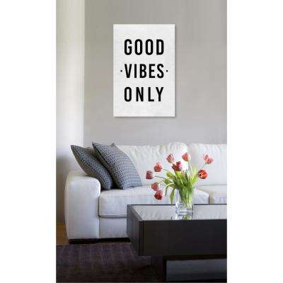 16 in. x 24 in. 'Good Vibes Only' by Oliver Gal Printed Framed Canvas Wall Art