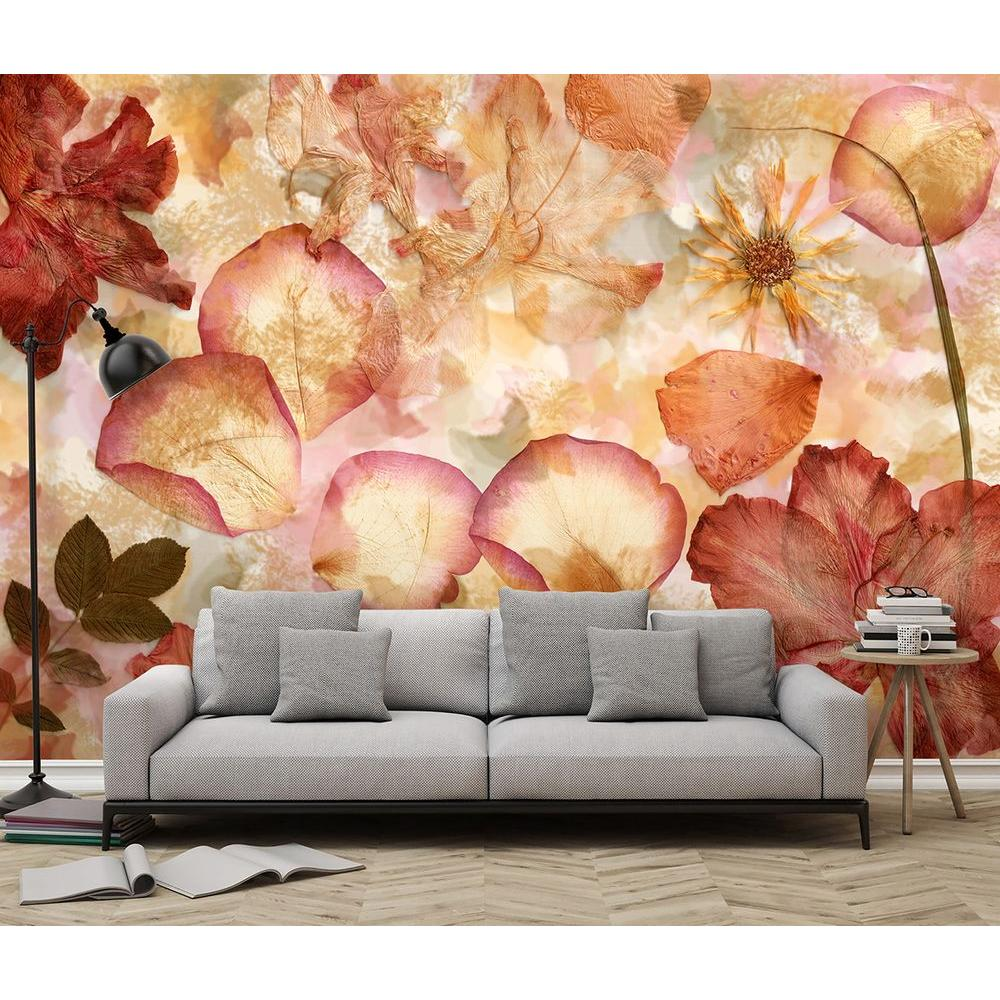 H Dried Flowers Wall Mural