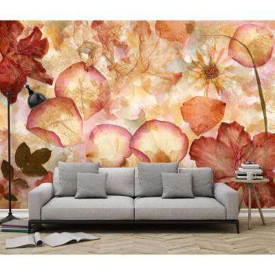 144 in. W x 100 in. H Dried Flowers Wall Mural