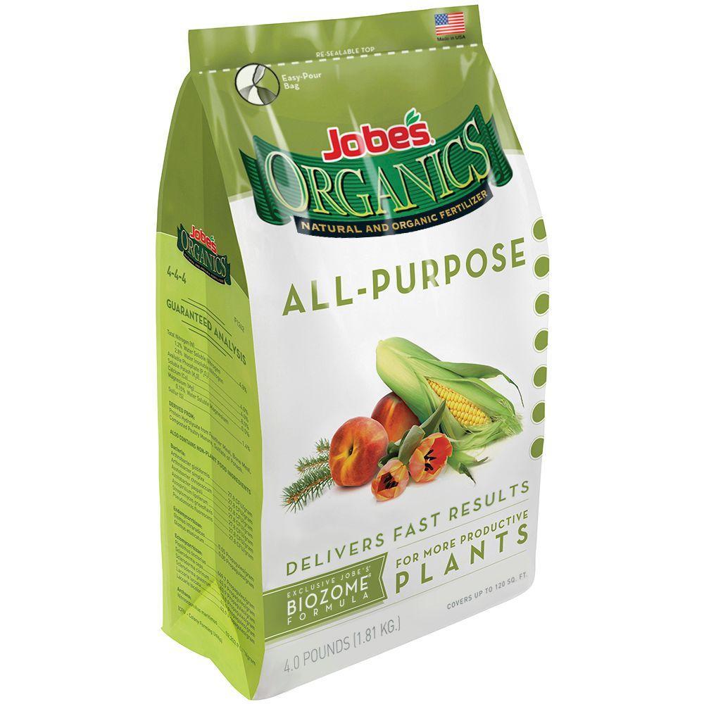 Jobe\'s Organic 4 lb. Granular All-Purpose Fertilizer-09526 - The ...
