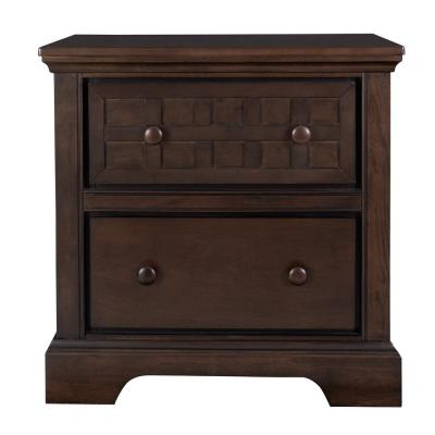 Casual Traditions 2-Drawer Walnut Nightstand