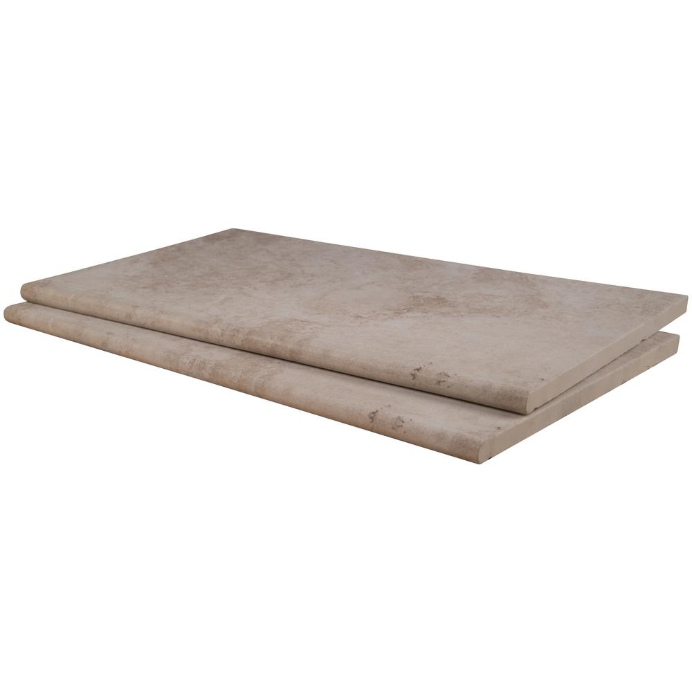 MSI 13 in. x 24 in. x 0.8 in. Isabela Beige Glazed Porcelain Pool Coping (26-Piece/56.33 sq. ft./Pallet)