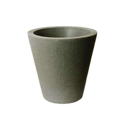 Olympus 21 in. H x 20 in. Self-Watering Taupestone Plastic Planter