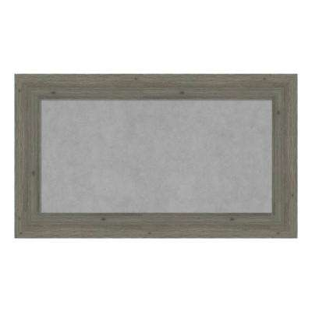 Fencepost Grey Narrow Framed Magnetic Memo Board