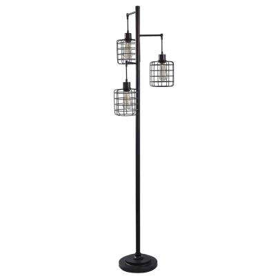 Geo 71 in. Black Floor Lamp
