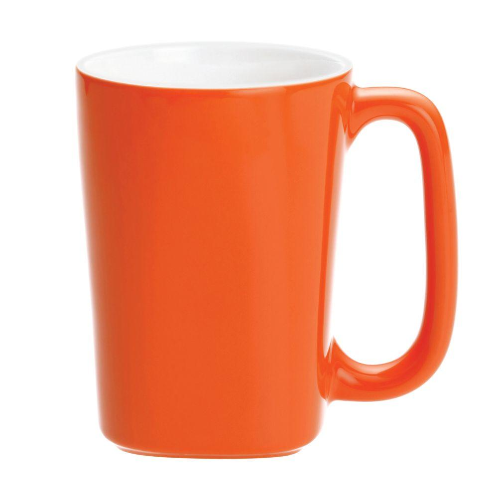 Rachael Ray Round and Square 4-Piece Mug Set in Tangerine