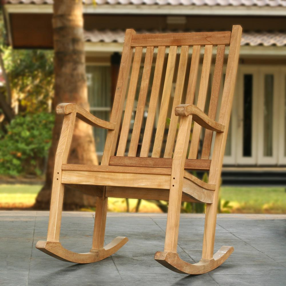 Wondrous Tortuga Outdoor Jakarta Teak Wood Patio Rocking Chair Camellatalisay Diy Chair Ideas Camellatalisaycom