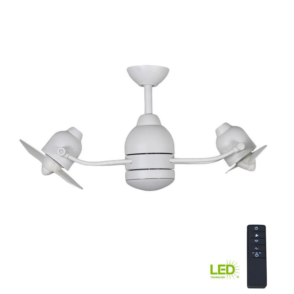 Home Decorators Collection Acworth 36 In Led Indoor Outdoor Matte Atlas Wiring Diagrams Dimmable White Ceiling Fan