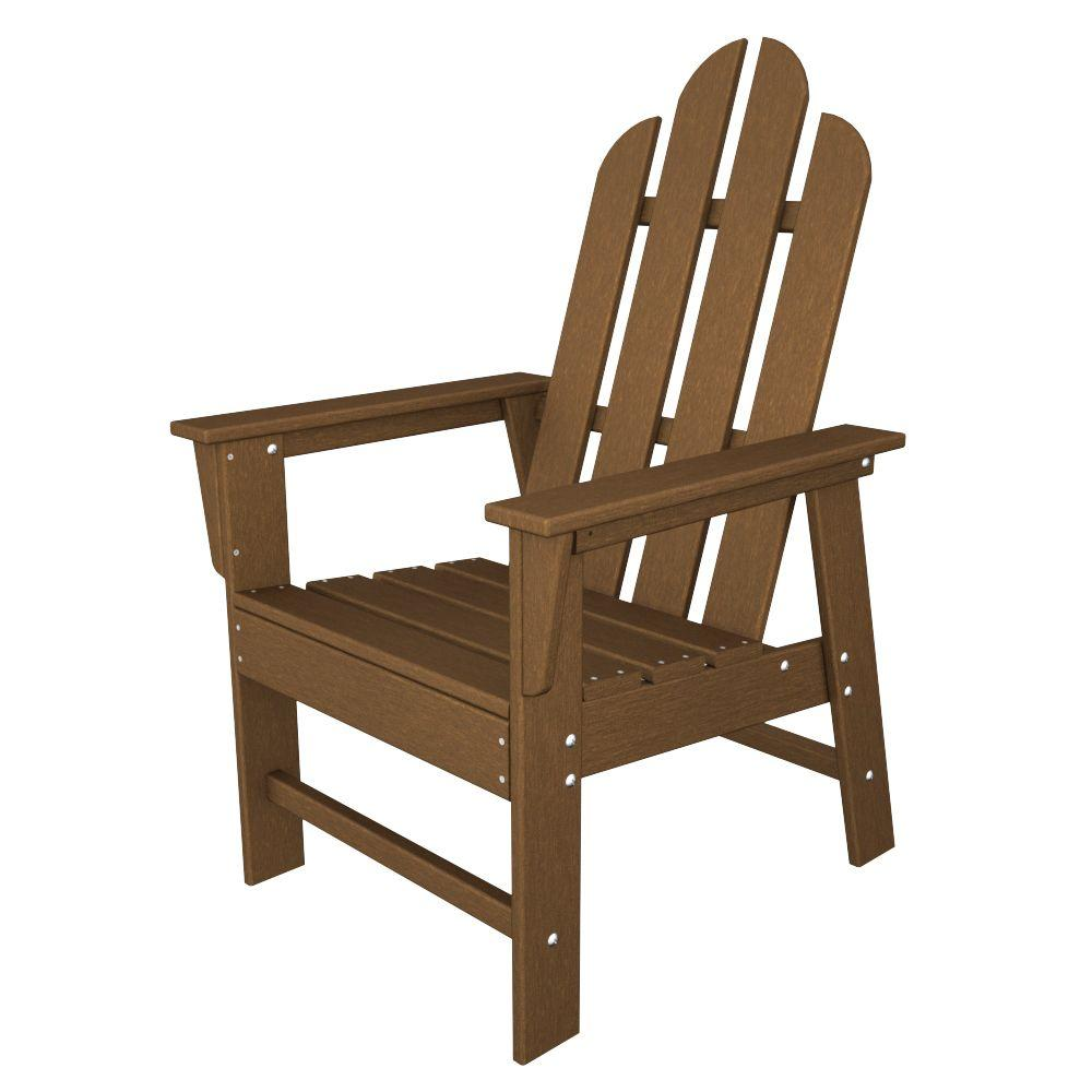 POLYWOOD Long Island Teak Patio Dining Chair