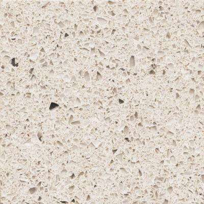 2 in. x 4 in. Quartz Countertop Sample in Stellar Snow