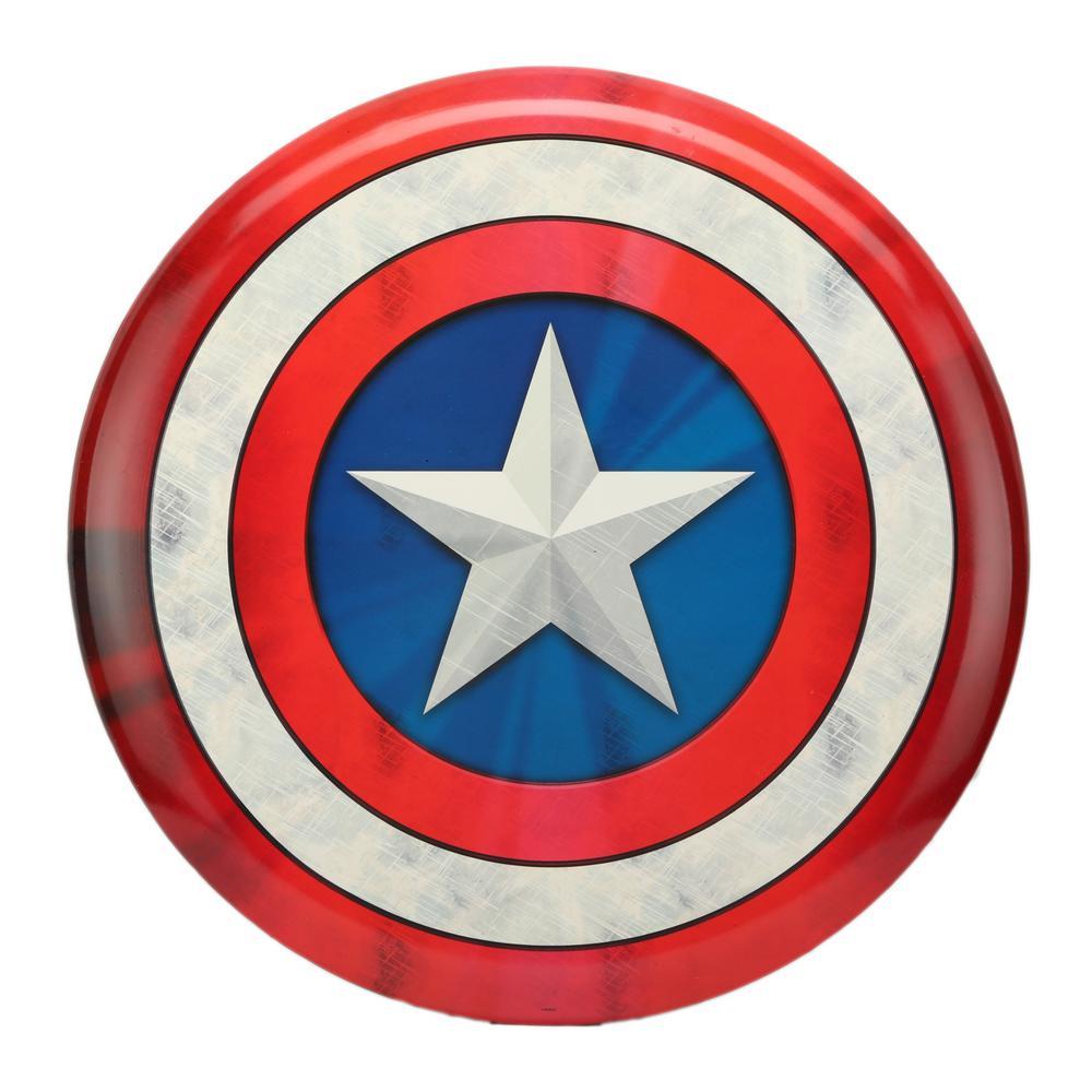 Captain America Shield Button Metal Decorative Sign