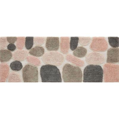 Pebbles Rose Cloud 24 in. x 60 in. Bath Runner