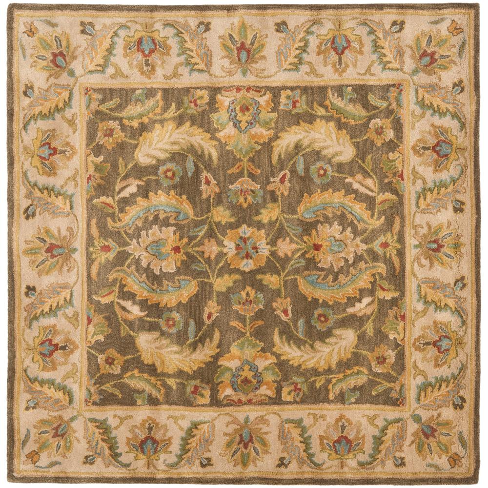 Heritage Green/Beige 6 ft. x 6 ft. Square Area Rug