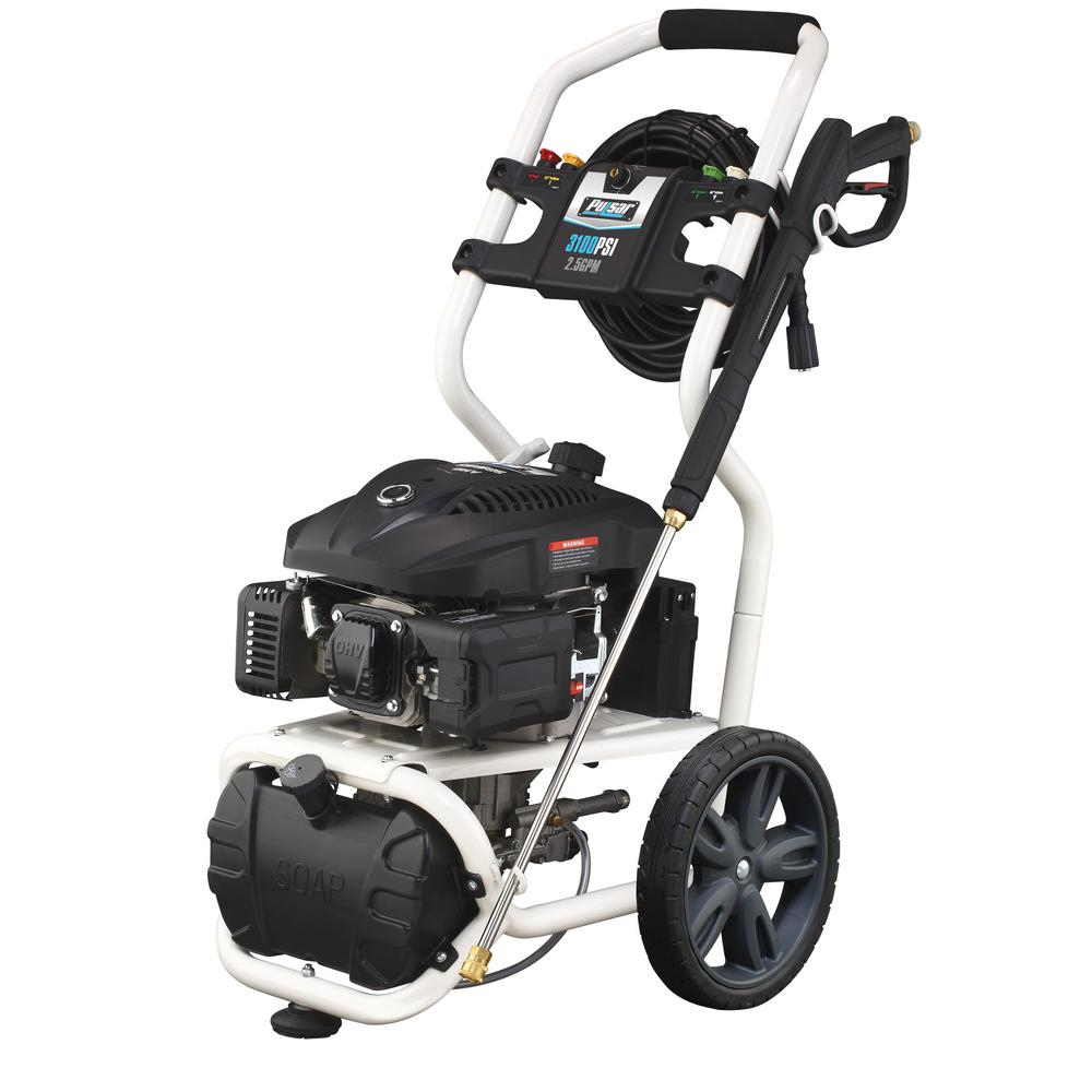 PULSAR Gas Powered High Performance Pressure Washer: PWG3100VE White